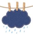 Rain cloud on a clothesline vector image