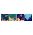 sea world background underwater life natural vector image