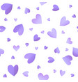 seamless pattern background with violet hearts vector image