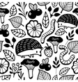Seamless pattern with small forest animals and vector image vector image
