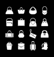 Set icons of bags vector image vector image