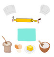 small female chef cooking food vector image