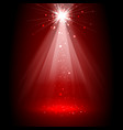 Spotlight red on stage vector image