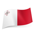 State flag of Malta vector image vector image