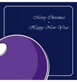 stylized violet Christmas ball with white shadow vector image vector image
