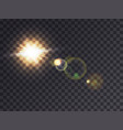 sunshine with lens flare vector image