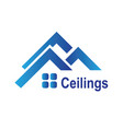the logo of the ceilings floors vector image vector image