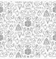 Wedding hand drawn seamless pattern vector image