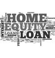 what you need to know about home equity loans vector image vector image
