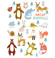 woodland animals character great vector image