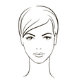 Young woman face vector image