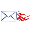 express mail message vector image