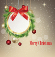 round Christmas greeting banner vector image