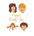 greeting card of the family day vector image