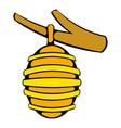 hive on branch icon icon cartoon vector image