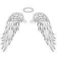 wings angel tattoo design vector image