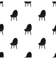 red oval chair icon in black style isolated on vector image