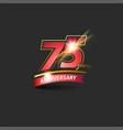75 years red gold anniversary logo