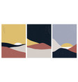 abstract art background with natural landscape vector image
