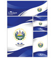 abstract el salvador flag background vector image vector image