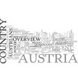 an overview of australia for travelers text word vector image vector image