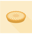 apple pie in flat design with long shadow vector image vector image