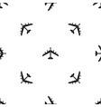 armed fighter jet pattern seamless black vector image vector image