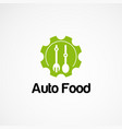 auto food logo designs concept icon element and vector image