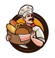 bakery bakehouse logo or label baker