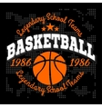 Basketball championship logo set and design vector image vector image