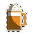 beer glass drink icon vector image