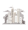 big city air pollution colorful flat vector image vector image