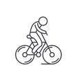 biking line icon concept biking linear vector image