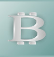 bitcoin symbol on a soft turquoise background vector image vector image