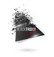black friday abstract explosion banner glowing vector image vector image