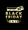 black friday sale banner golden text vector image