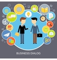 Business dialog concept vector image