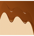 Chocolate background with wafes vector image