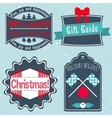 Christmas badges labels stickers in retro style vector image vector image