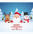 christmas companions with champagne vector image