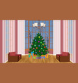 christmas design living room interior with vector image vector image