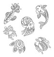 coloring pages in graphic for vector image vector image