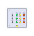 control cabinet on white background vector image