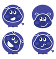 cute wild hippo set vector image vector image