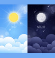 day and night sky vector image vector image