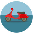 delivery motorbike in flat style vector image