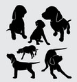 dog vizsla pet mammal animal silhouette vector image vector image