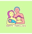 Family label and emblem vector image vector image