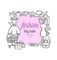 fashion shop banner vector image vector image