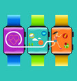 fitness watch technology concept vector image vector image